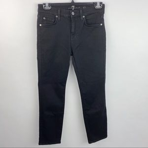 7 for all Mankind Kimmie Crop black jeans